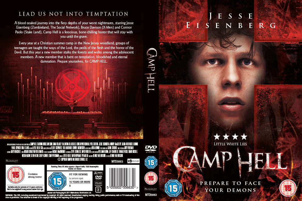Metrodome Camp Hell DVD packaging design